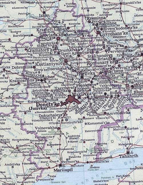 Image - Map of Donetsk oblast.