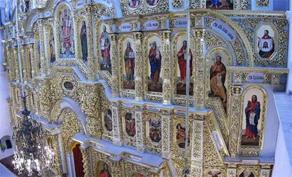 Image - Fragment of the iconostasis of the Dormition Cathedral of Kyivan Cave Monastery.