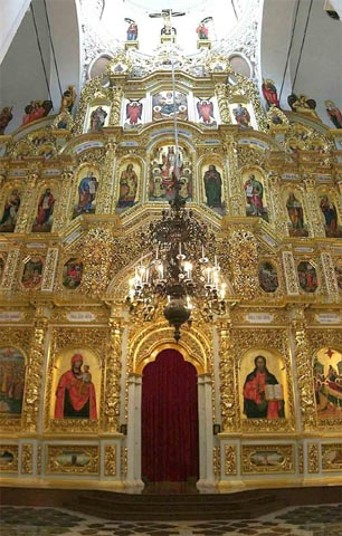 Image - Iconostasis of the Dormition Cathedral of the Kyivan Cave Monastery.