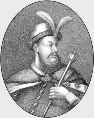 Image -- An engraving of Hetman Petro Doroshenko.