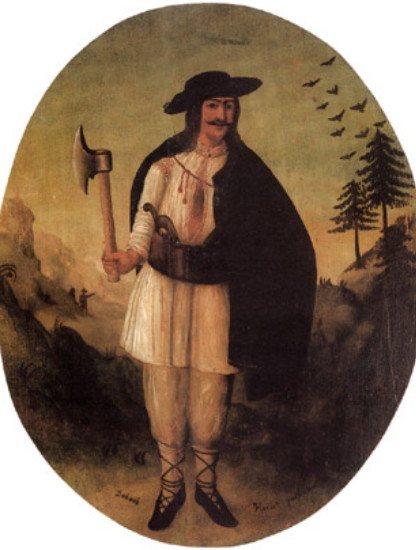 Image - A folk painting of Oleksa Dovbush.