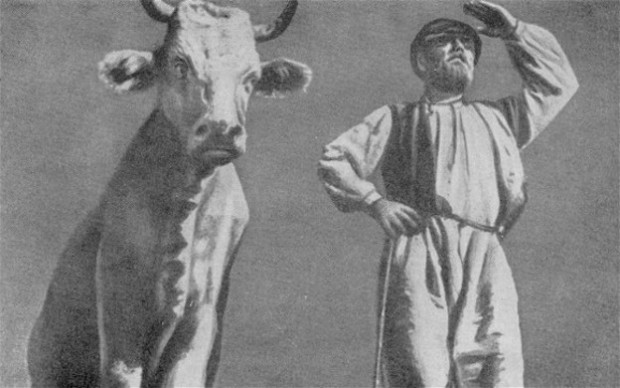 Image - Oleksander Dovzhenko: a scene from his film Earth (1930).