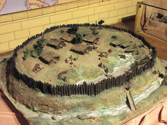 Image - A reconstruction of an early Slavic settlement (8th-9th century).