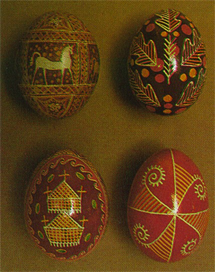 Image - Ukrainian Easter eggs (from left to right, top then bottom): Hutsul region, Pokutia, Hutsul region, Transcarpathia.