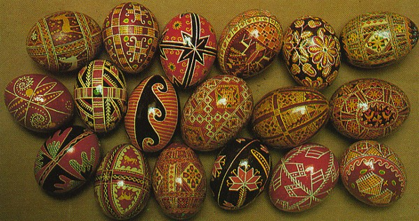 Image - Ukrainian Easter eggs from the collection of the Ukrainian Museum in New York.