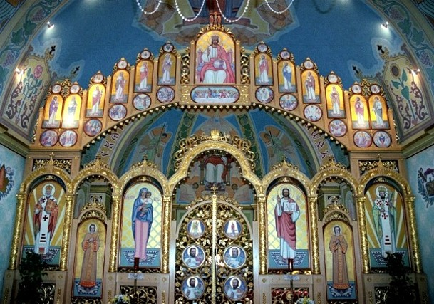 Image - The iconostatis in Saint Josaphat Ukrainian Catholic Cathedral in Edmonton, Alberta (built in 1904).
