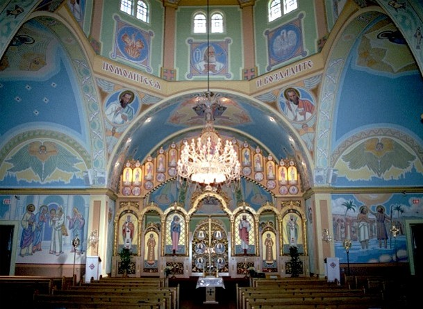 Image - The interior of Saint Josaphat Ukrainian Catholic Cathedral in Edmonton, Alberta (built in 1904).