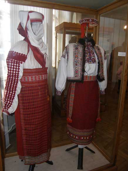 Image - Embroidered folk dress from the Ivano-Frankivsk region.