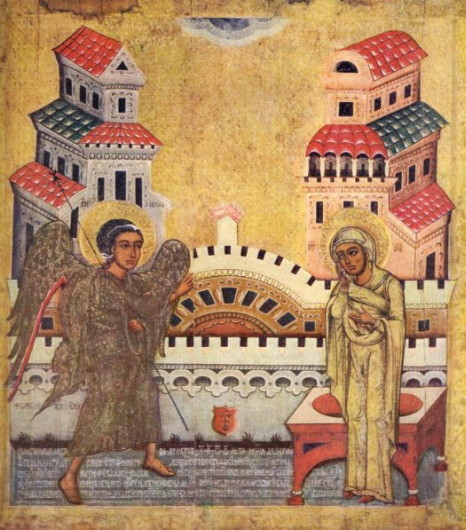 Image - Fedusko of Sambir: The icon of Annunciation (1579).