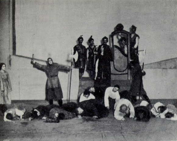 Image - Scene from Les Kurbas production of Taras Shevchenko, Haidamaky, at the First Shevchenko Theatre (1920).