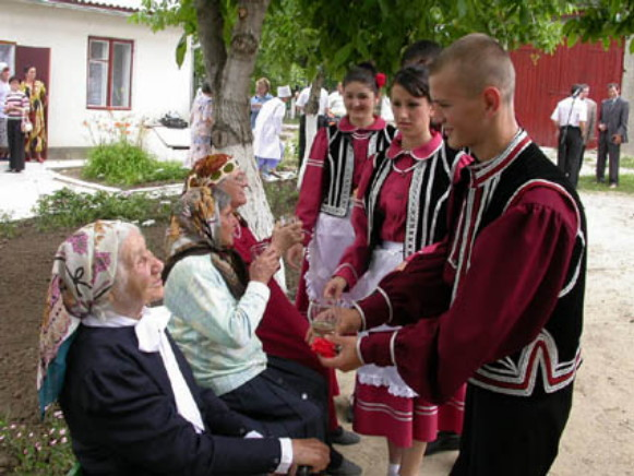 Image - Gagauzy in Ukraine in their national dress.