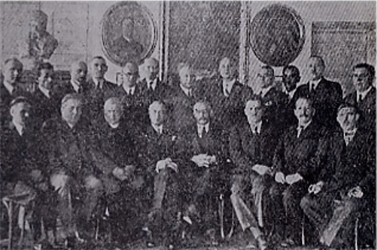 Image - Members of the Galician Prosvita society's chief executive and auditing commission in 1936.
