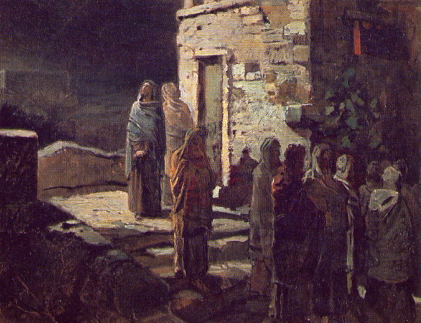 Image - Mykola Ge: Christ and His Disciples Leave for the Garden of Gethsemane (1889).