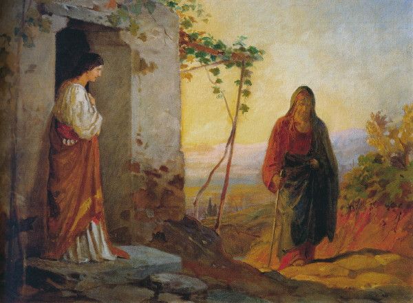 Image - Mykola Ge: Mary Sister of Lazarus Meets Christ (1860s).