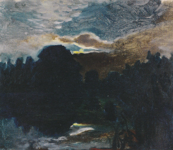 Image - Mykola Ge: Moonlit Night in Ivanovskyi khutir (1880s).