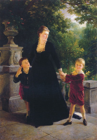 Image - Mykola Ge: Portrait of Maria Skoropadska with Children (1879).