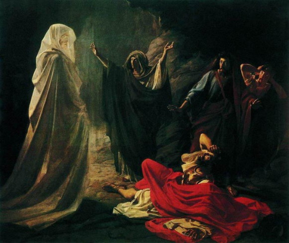 Image - Mykola Ge: Saul and the Witch of Endor (1856).