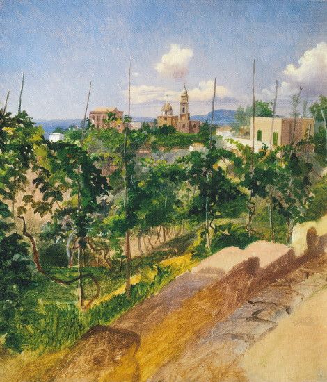Image - Mykola Ge: Vineyard in Vico (1858).