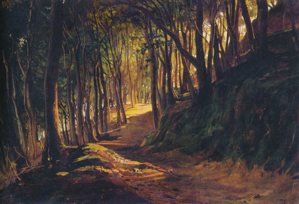 Image - Mykola Ge: Oak Grove at San Torenzo (1867).