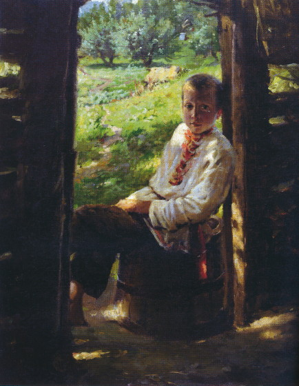 Image - Mykola Ge: Portrait of Ukrainian Boy (early 1890s).