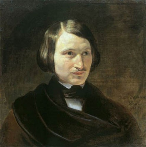Image - A portrait of Nikolai Gogol by F. Moller (1840).
