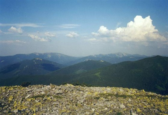 Image -- Panorama of the Gorgany Mountains from Mount Popadia