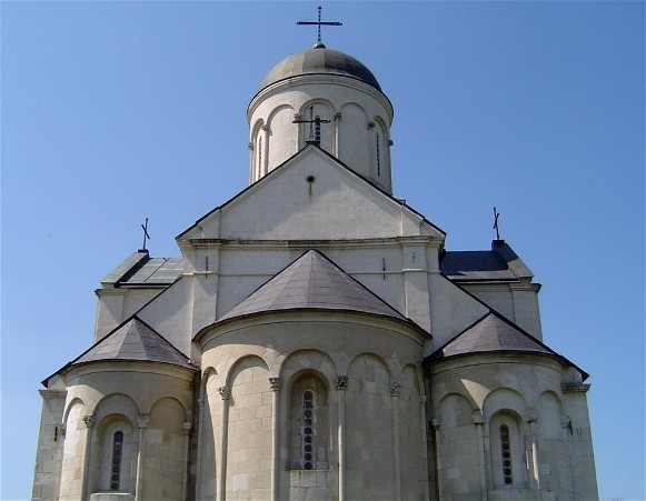 Image -- Saint Panteleimon Church (pre-1200) in the Old Halych National Reserve.