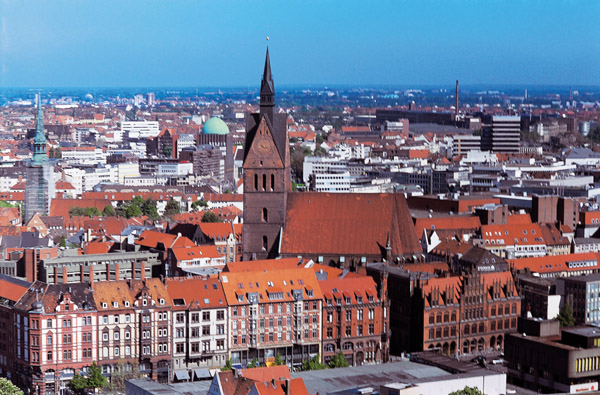 Image - Hannover, Germany: city center.