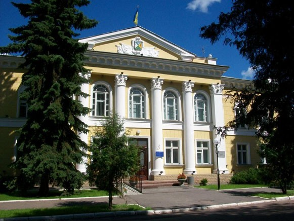 Image - Hlukhiv: the city council building.