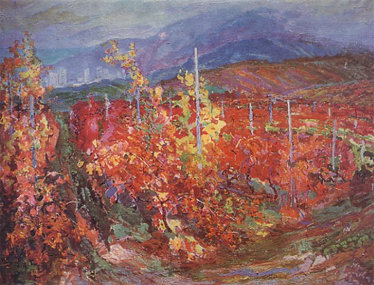 Image - Mykola Hlushchenko: Purple Vineyards (1973).