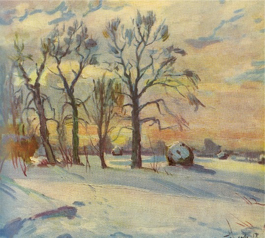 Image - Mykola Hlushchenko: Winter Morning (1958).