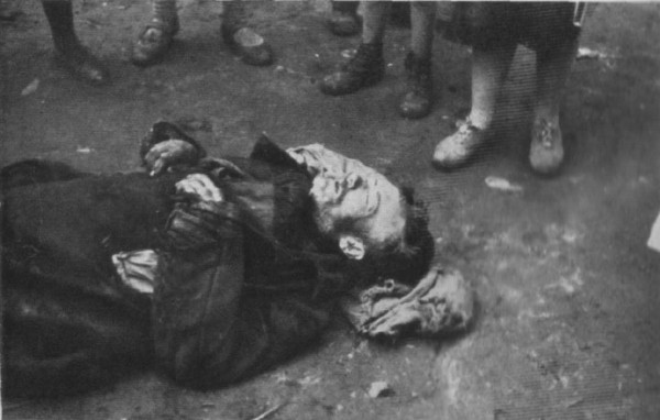Image -- A corpse on the streets of Kharkiv during the Famine-Genocide (1933).