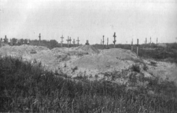 Image -- Mass graves near Kharkiv during the Famine-Genocide (1933).