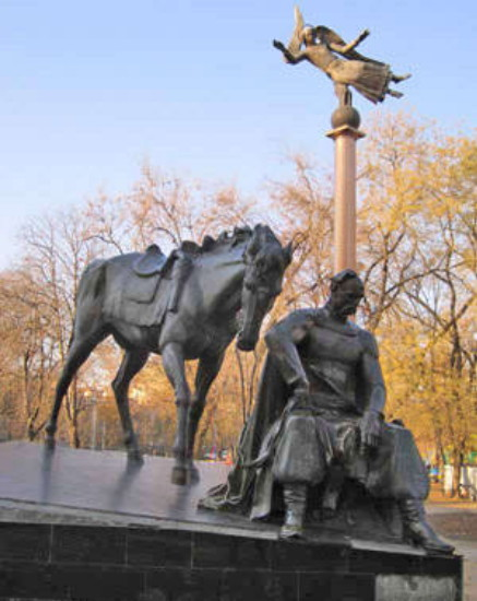 Image - A monument of Otaman Antin Holovaty in Odesa.