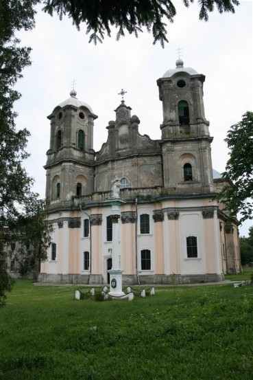 Image - The Dormition Roman Catholic church in Horodenka, built by Bernard Meretyn (1763).