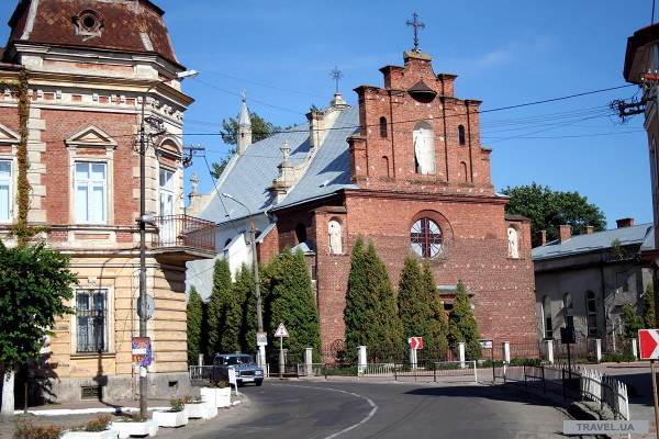 Image -- Horodok, Lviv oblast: The Elevation of the Cross Roman Catholic Church (15th-18th century).