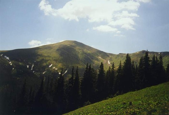 Image - Mount Hoverlia in Chornohora in the summer.