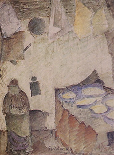 Image -- Oleksa Hryshchenko: Turkish Kitchen (1920).