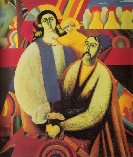 Image - Feodosii Humeniuk: The Holy Family (1976).