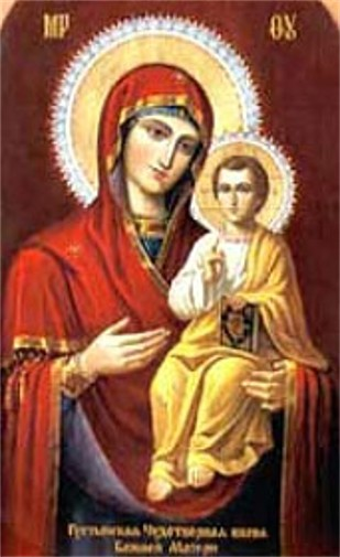 Image - The Hustynia Trinity Monastery miraculous icon of the Mother of God.
