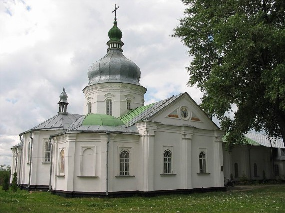 Image -- The Dormition Church of the Hustynia Trinity Monastery built by Hetman Ivan Mazepa.