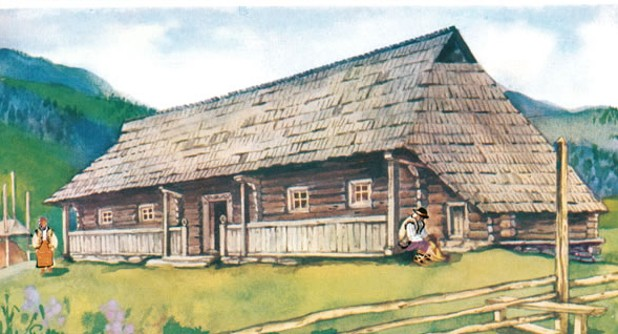 Image - A traditional Hutsul house.
