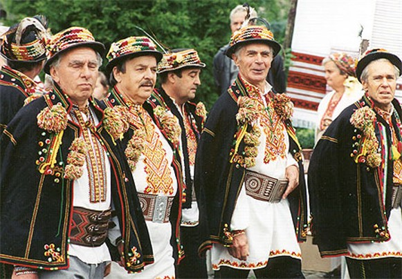 Image - Hutsuls in traditional dress.