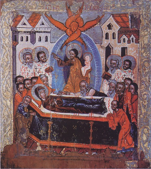 Image - Icon: The Dormition (late 16th century, Kalush, Galicia).