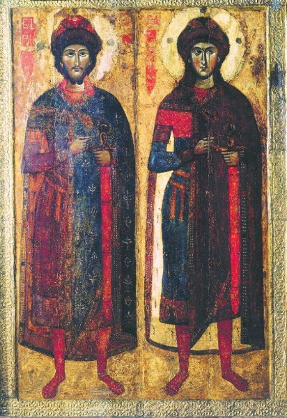 Image - The icon of Saints Borys and Hlib (12th-13th centuries).