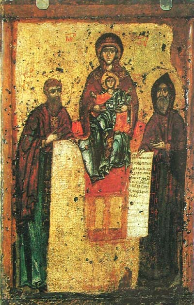 Image - The icon of The Mother of God of the Caves or The Svensk Mother of God (11th century, Kyivan school).