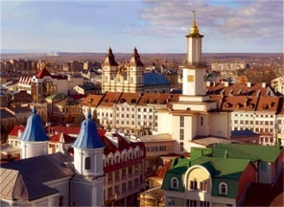 Image - The view of the Ivano-Frankivsk old city center.