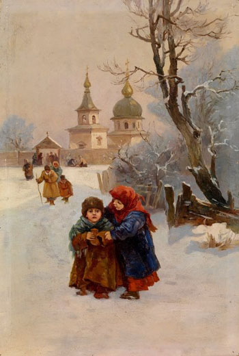 Image - Ivan Izhakevych: In Front of the Church.