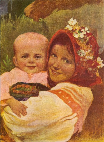 Image - Ivan Izhakevych: The Mother is Coming (1926).