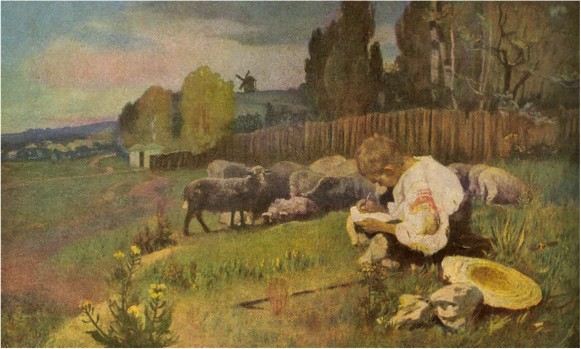 Image - Ivan Izhakevych: Taras Shevchenko as Shepherd, based on the poem I Was Turning Thirteen (1939).